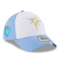 Tampa Bay Rays mlb new era flex спортивная бейсболка белая