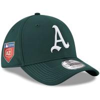 Oakland Athletics mlb new era flex spring спортивная бейсболка зеленая