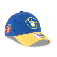 Milwaukee Brewers mlb new era flex spring спортивная бейсболка синяя