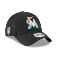 Miami Marlins mlb new era спортивная бейсболка черная