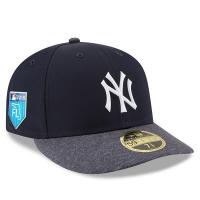 New York Yankees mlb new era NY fitted low profile спортивная бейсболка темно-синяя
