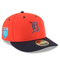 Detroit Tigers mlb new era fitted low profile спортивная бейсболка оранжевая