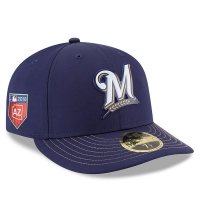 Milwaukee Brewers mlb new era fitted low profile спортивная бейсболка синяя