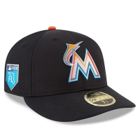 Miami Marlins mlb new era fitted спортивная бейсболка черная