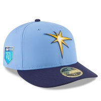 Tampa Bay Rays mlb new era fitted спортивная бейсболка голубая