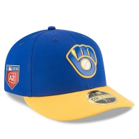 Milwaukee Brewers mlb new era fitted спортивная бейсболка синяя