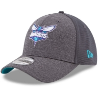 Charlotte Hornets nba new era flex-fit shadowed спортивная бейсболка серая