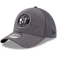 Brooklyn Nets nba new era flex-fit shadowed спортивная бейсболка серая