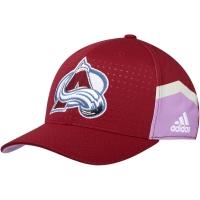 Colorado Avalanche nhl adidas flex-fit хоккейная бейсболка бордовая