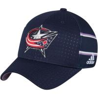 Columbus Blue Jackets nhl adidas flex-fit хоккейная бейсболка темно-синяя