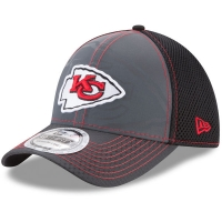 Kansas City Chiefs nfl new era flex flashed спортивная бейсболка серо-черная