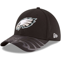 Philadelphia Eagles nfl new era flex sideline спортивная бейсболка черная