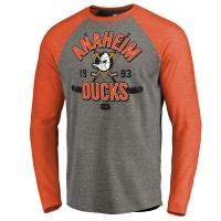 Anaheim Ducks nhl vintage collection хоккейная футболка лонгслив серая