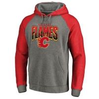 Calgary Flames nhl fanatics raglan hoodie хоккейная толстовка с капюшоном