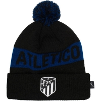 Atletico de Madrid футбольная зимняя шапка с помпоном черная