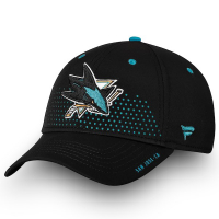 San Jose Sharks nhl fanatics draft flex-fit хоккейная бейсболка черная
