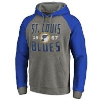 St Louis Blues nhl raglan хоккейная толстовка с капюшоном