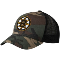 Boston Bruins nhl adidas camo trucker хоккейная бейсболка с сеткой камуфляжная