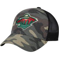 Minnesota Wild nhl adidas trucker хоккейная бейсболка с сеткой камуфляжная