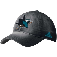 San Jose Sharks nhl adidas on ice хоккейная бейсболка черная