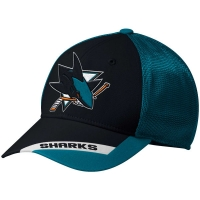 San Jose Sharks nhl adidas flex-fit meshback хоккейная бейсболка с сеткой
