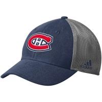 Montreal Canadiens nhl adidas flex-fit meshback хоккейная бейсболка с сеткой синяя