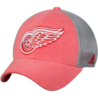 Detroit Red Wings nhl adidas flex-fit meshback хоккейная бейсболка с сеткой красная
