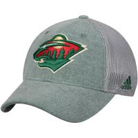 Minnesota Wild nhl adidas flex-fit meshback хоккейная бейсболка с сеткой зеленая