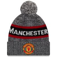 Manchester United FC new era футбольная шапка с помпоном серая
