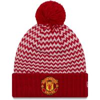 Manchester United FC new era футбольная шапка с помпоном красная
