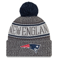 New England Patriots nfl new era зимняя шапка с помпоном