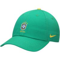 Brasil nike heritage футбольная спортивная бейсболка зеленая