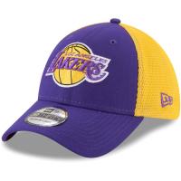 Los Angeles Lakers nba new era flex-fit on-court спортивная бейсболка фиолетовая