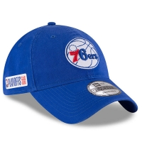 Philadelphia 76ers nba new era playoffs спортивная бейсболка синяя