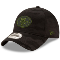 San Francisco 49ers nfl new era camo спортивная бейсболка черная