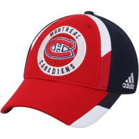 Montreal Canadiens nhl adidas flex-fit хоккейная бейсболка сине-красная