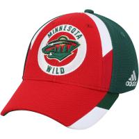 Minnesota Wild nhl adidas flex-fit хоккейная бейсболка красная