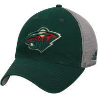 Minnesota Wild nhl adidas flex-fit хоккейная бейсболка с сеткой зеленая