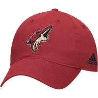 Arizona Coyotes nhl adidas core хоккейная бейсболка бордовая