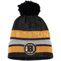 Boston Bruins nhl adidas heathered хоккейная шапка с помпоном желто-черная