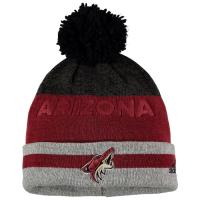 Arizona Coyotes nhl adidas heathered хоккейная шапка с помпоном бордовая