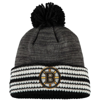 Boston Bruins nhl adidas хоккейная шапка с помпоном серая