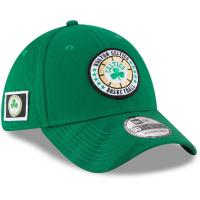 Boston Celtics nba new era flex-fit on-court спортивная бейсболка зеленая