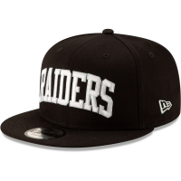 Oakland Raiders nfl new era snapback wordmark спортивная кепка черная