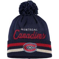 Montreal Canadiens nhl adidas хоккейная шапка с помпоном темно-синяя