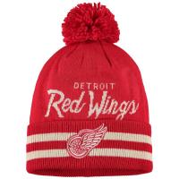 Detroit Red Wings nhl adidas хоккейная шапка с помпоном красно-белая