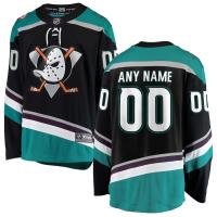 Ваш номер и Имя Anaheim Ducks нхл fanatics alternate джерси хоккейный свитер черный
