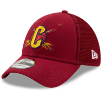Cleveland Cavaliers nba new era flex-fit спортивная бейсболка бордовая