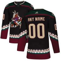 Ваш номер и Имя Arizona Coyotes nhl adidas authentic alternate хоккейный свитер черный
