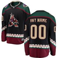 Ваш номер и Имя Arizona Coyotes nhl fanatics alternate джерси хоккейный свитер черный